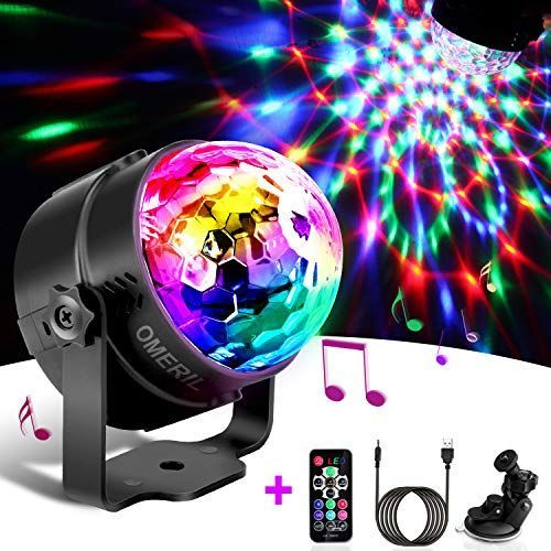 Techole Discokugel Led Party Lampe Musikgesteuert Disco Lichteffekte Discolicht Mit 4m Usb Kabel 7 Farbe Rgb 360 In 2020 Disco Ball Light Disco Lights Led Disco Lights