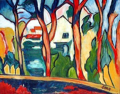 MAUIRICE de VLAMINCK Los árboles rojos (1906)