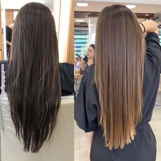 100 New Hairstyle And Color Ideas For 2019 Just Trendy Girls Page 10 Myblogika Com Coloración De Cabello Luces De Cabello Cabello Castaño Con Reflejos