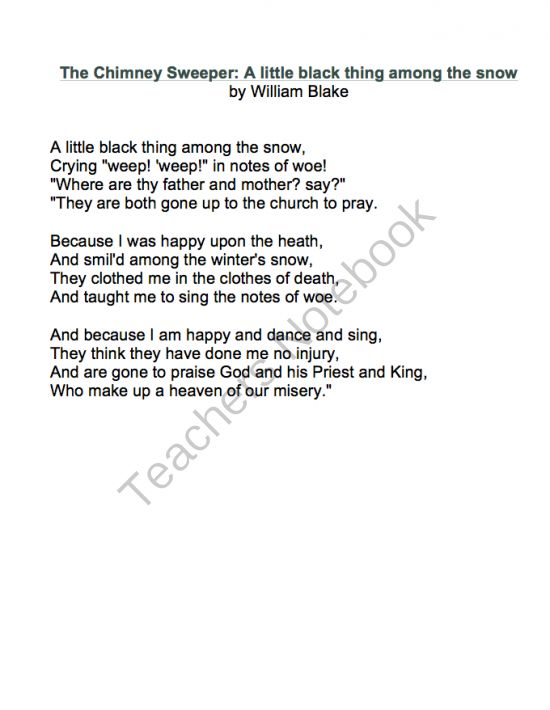 Essay on the chimney sweeper by william blake   ipgproje com SlideServe The Chimney Sweeper  from  Songs Of Innocence   by William Blake