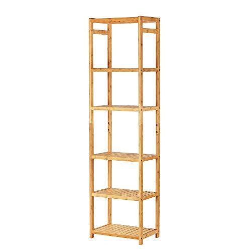 Viagdo Bamboo Bathroom Shelf 6 Tier 63 7 Height Narrow Https