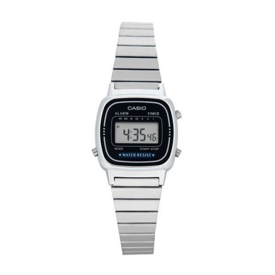 Casio Women's 23mm LA670WA-2D Digital Watch (€20) ❤ liked on Polyvore featuring jewelry, watches, casio wrist watch, casio watches, silver jewelry, silver digital watch and digital watch