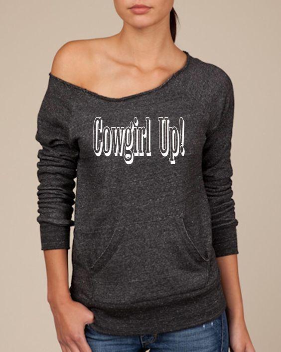 Cowgirl Up! Women's Scoop Neck Sweatshirt