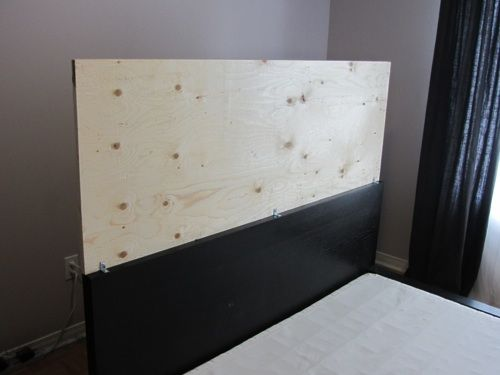Domestic Restylings An Upholstered Headboard For The Malm