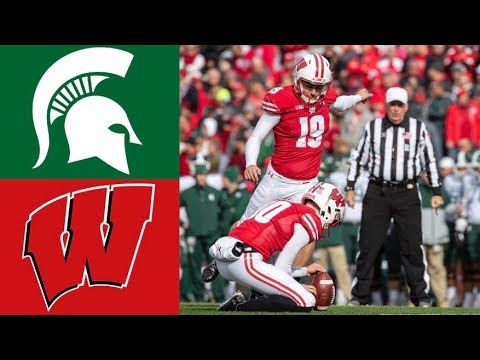 Michigan State Vs 8 Wisconsin Highlights Ncaaf Week 7 College Football Highlights Youtube Football Highlight Michigan State College Football