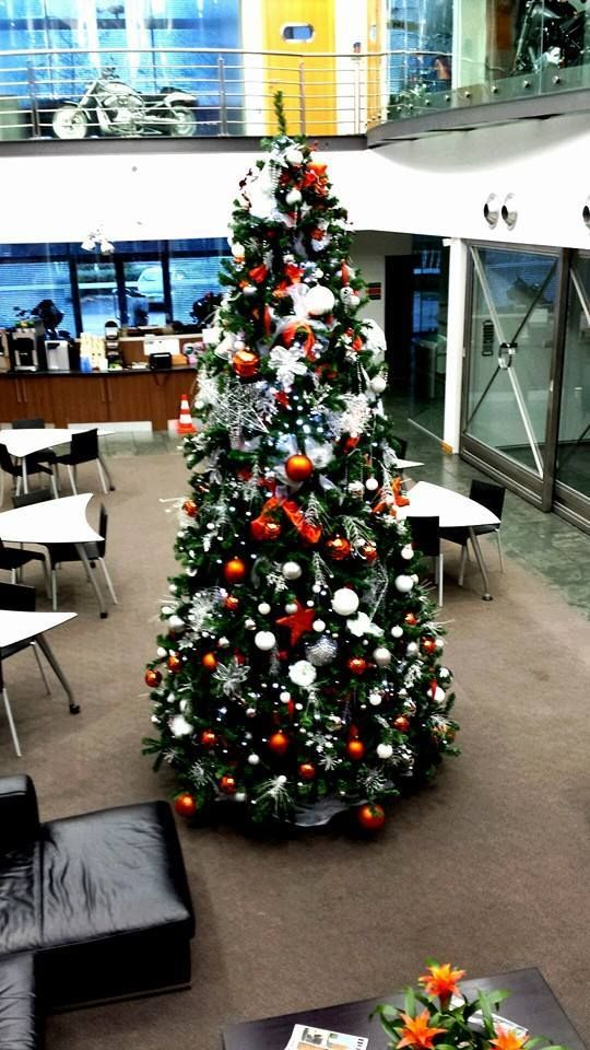 Trees, Harley davidson and Christmas trees on Pinterest - office christmas decorations