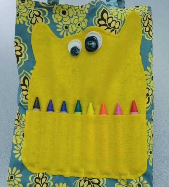 .Quiltscapes.: A cute little Monster Coloring Bag.
