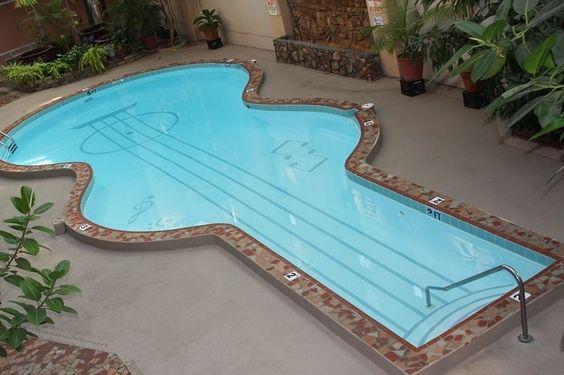 Playing guitar or swimming? | Credit to: Decoist | www.rumahku.com by rumahkucom Creative backyard pool designs.