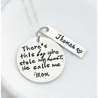 There's This Boy Personalized Necklace at Sweet Blossom Gifts