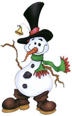 FUNNY WINTER SNOWMAN CLIP ART