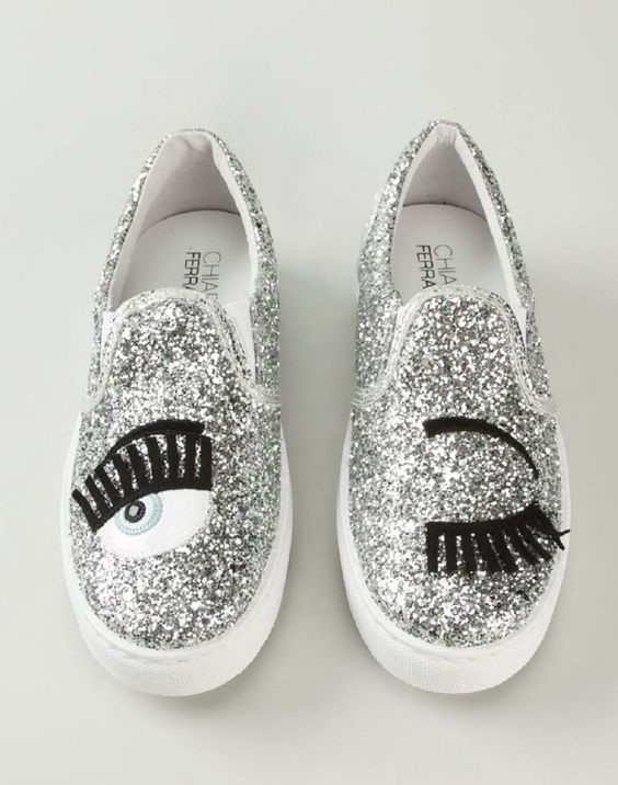 CHIARA FERRAGNI 'Flirting' Slip-on Skate Shoes | Buy ➜ http://shoespost.com/chiara-ferragni-flirting-slip-on-skate-shoe: