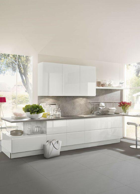 Arbeitsplatte aus Naturstein Welche Vorteile hat eine - küche ohne griffe
