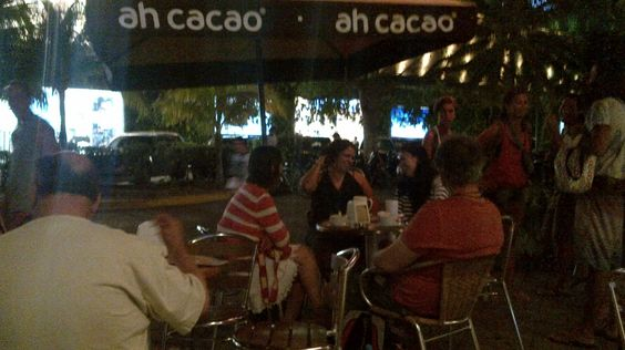 5th ave Playa del Carmen tourist area - late night cafe at end of 5th ave