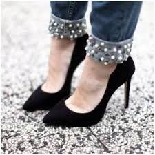 Resultado de imagen para jeans con perlas