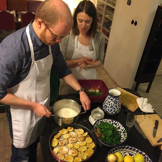Making Kufta with Tahini sauce