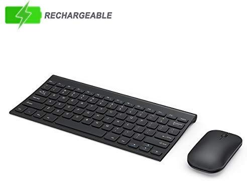 Wireless Keyboard And Mouse Combo Seenda Low Profile Small Rechargeable Wireless Keyboard And Mouse For Windows Devices Black Keyboard Wireless Low Profile