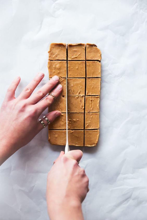 4-Ingredient Chocolate & Peanut Butter Freezer Fudge (vegan & gluten free!) | Ambitious Kitchen