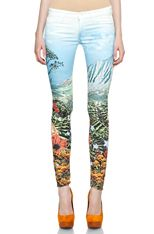 Printed Mother Jeans ... kind of diggin' them