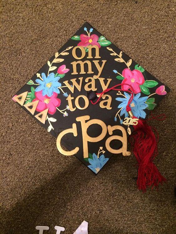 Accounting Graduation Cap Decorations