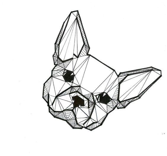 Para Dibujar A Lapiz 81 Ilustraciones De Animales Paradibujar Fun Geometric Dog Geometric Drawing Geometric Animals