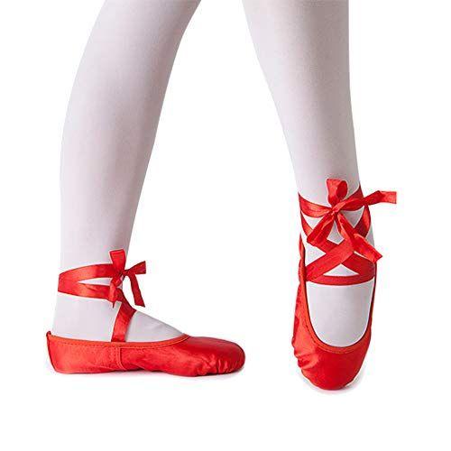 Girl's Silk Dance Shoe Ballet Slipper