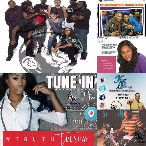 Great Music with #ThoseBaxters and #TruthTuesdays!! 2pm: #TruthTuesdays with Genesis 5pm: #TruthTuesdays with Genesis 6pm: #ThoseBaxters 8pm: Keep Pushing - Journey of Faith with DBake 9pm: The DJ Jesus Beats Show App and Website on the Pinned Post!! #freethinkersradio #weekend #turnup - facebook.com/rlwonderland