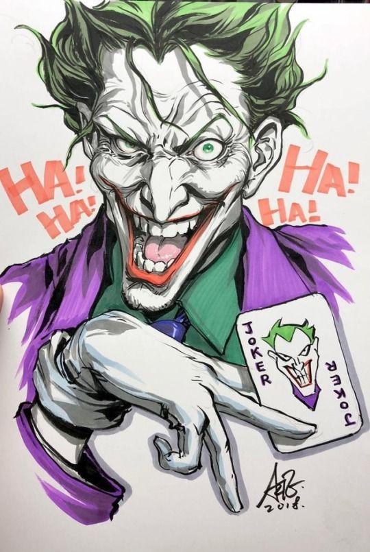 Art Vault Comic Book Images Joker Art Joker Drawings