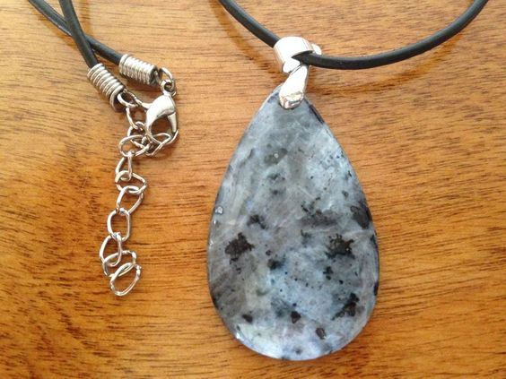 Polished Natural Gemstone Pendant, Adjustable Cord Necklace, Made in the USA