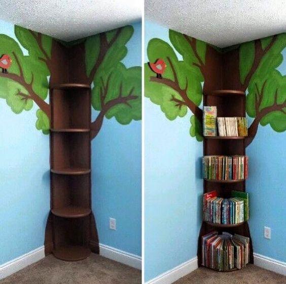 decoracao sala de leitura na escola:Ensinando com Carinho: Árvore para decorar sala de aula