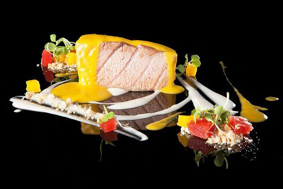 Atún rojo en salsa de naranja y coco. Restaurante El Campero. www.restauranteelcampero.es