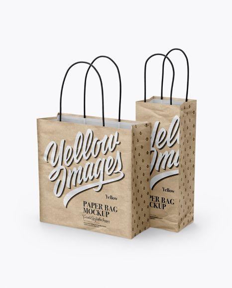 Download Two Kraft Paper Bags Mockup Half Side View In Bag Sack Mockups On Yellow Images Object Mockups Bag Mockup Free Psd Mockups Templates Mockup Free Psd