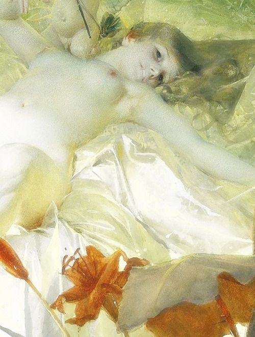 The Love Nymph, Detail. by Anders Zorn (1885)