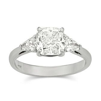 18K_White_Gold_Cushion_and_Shield_Diamond_Engagement_Ring