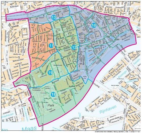 Kaart Centrumgebied Rotterdam Mapquest Pinterest Rotterdam