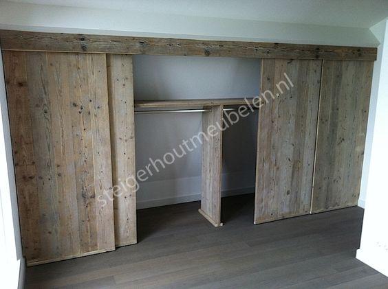 steigerhout slaapkamer ideeen pinterest kast