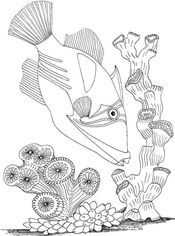 Free Seascape Coloring Pages Coloring Pages Inspirational Fish