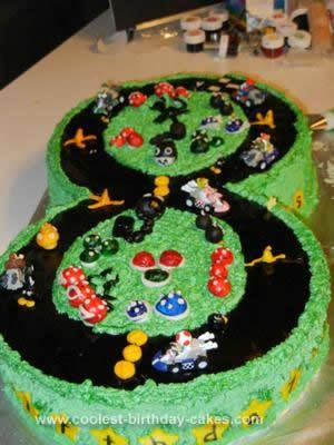 Homemade Mario Kart Birthday Cake Mario Party