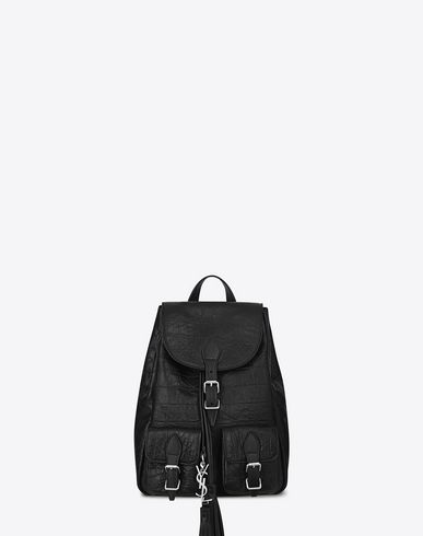 ysl cabas bag sale - SAINT LAURENT SMALL FESTIVAL BACKPACK IN BLACK CROCODILE EMBOSSED ...