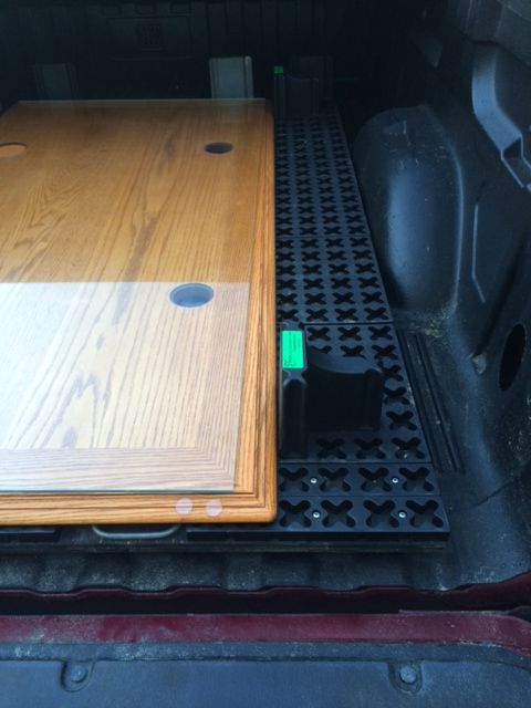 Make An Easy Pull Out Cargo Mat With A Piece Of Plywood Cut To Bed Length,  2 Handles, And A Tmat Cargo Mat To Hold Your Cargo In Place. The Wood Ju2026