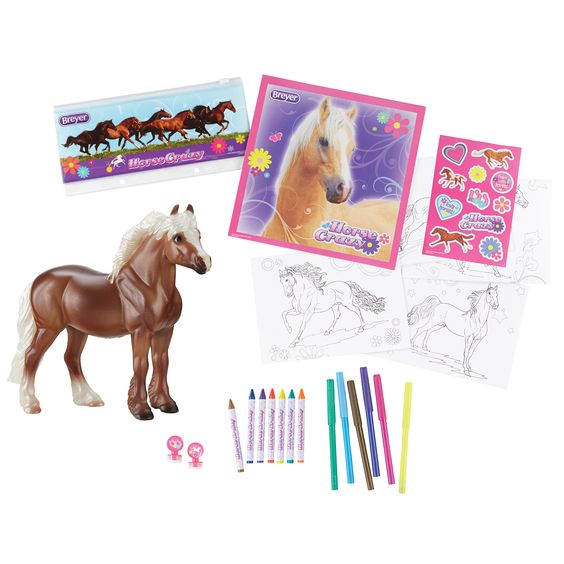 Reeves Breyer Stablemates Horse Crazy Real Horse Activity Set