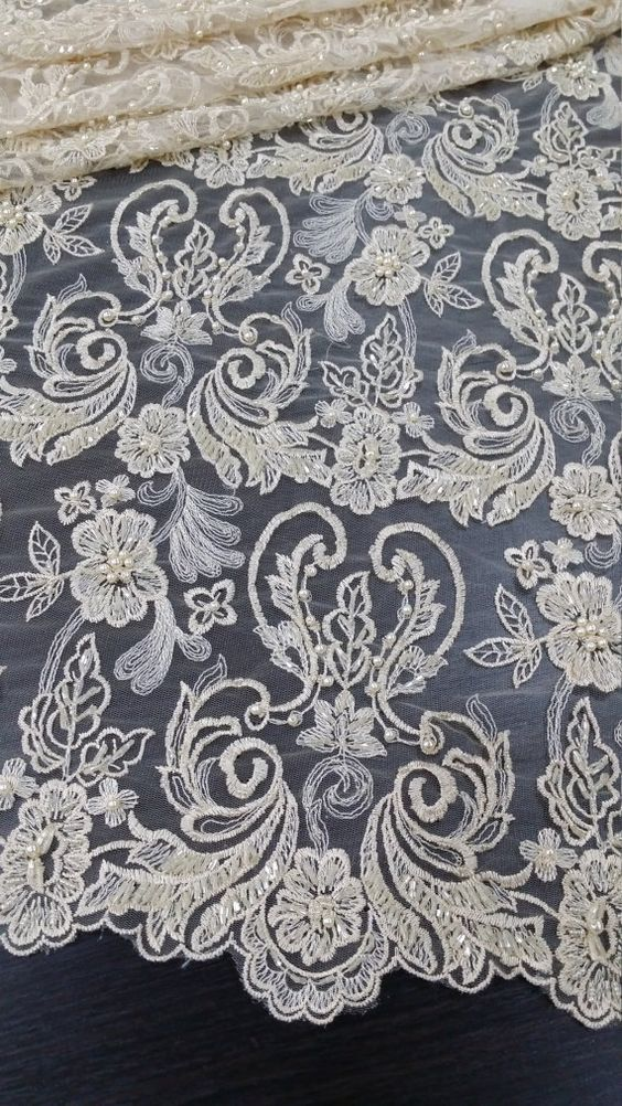 Hey, I found this really awesome Etsy listing at https://www.etsy.com/listing/273384254/beige-lace-fabric-by-the-yard-french