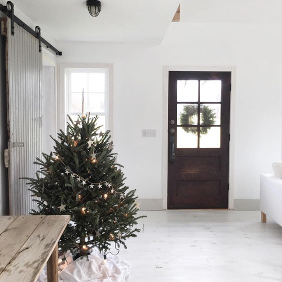"""""""Excuse me while I over share pictures of tiny house and my Christmas tree today """" via county road"""
