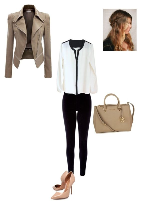 """""""go to work"""" by a-puckas ❤ liked on Polyvore featuring Doublju, Monsoon and Michael Kors"""