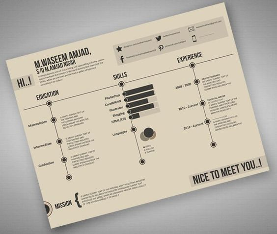 100 Free Psd Templates For Download Graphic Design Resume Infographic Resume Creative Resume