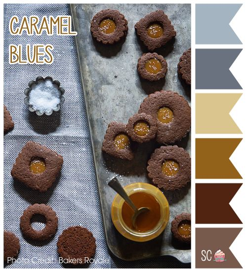 Inspire Sweetness!: Caramel Blues - Color Palette