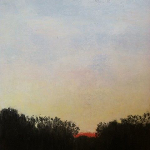 "Golden Glow - "" A perfect sunset at the end of a beautiful day at Mill Pond West Newbury. Ma"" Pastel on Wallis paper: 17x14"