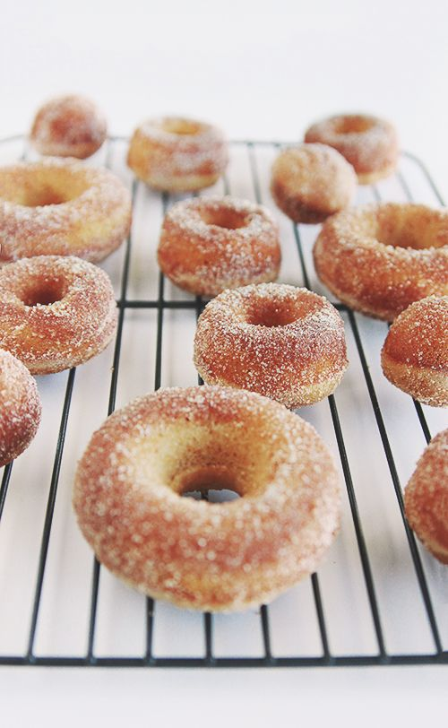 I was thinking about having some carrots and then I saw these baked apple cider donuts. I think we both know how this story ends.