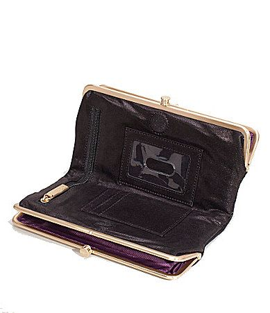 hobo original lauren double frame clutch wallet in metallic black purses pinterest - Double Frame Clutch Wallet