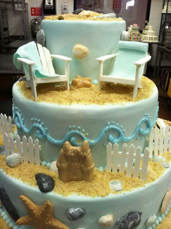 Beach Cake - somehow I think Henry VIII's court would have appreciated this somehow!
