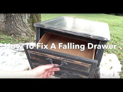 Diy Hack Fix A Falling Drawer Drawer Falling Out Tilting Down Quck Temporary Fix Youtube Hacks Diy Drawer Tracks Refinishing Furniture
